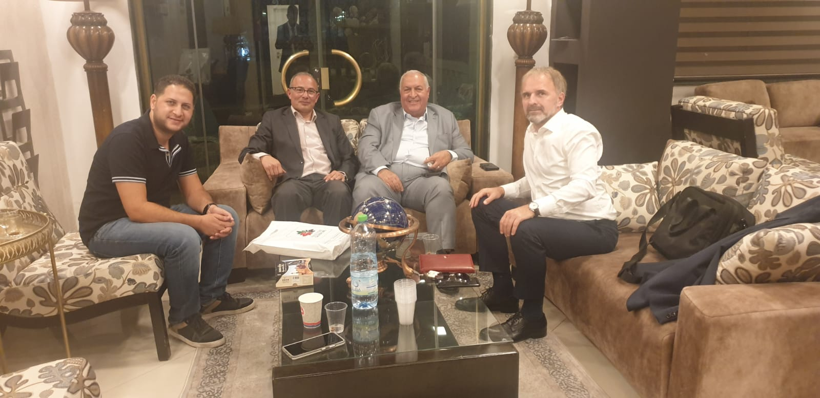 Sinokrot and Sadovich… A meeting to strengthen Palestinian-Bosnian relations